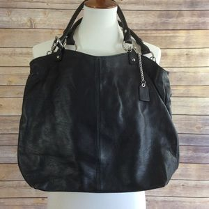 Handbags - Italian Leather Handbag NEW Black Tote Crossbody